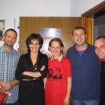 Фото с активистами молодежного отделения Союза независимых социал-демократов (СНСД)