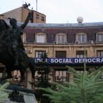Растяжка Социал-Демократической партии Румынии