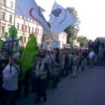 движение. с нами зеленый герой протестного движения